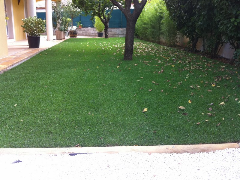 Création d'une pelouse avec arrosage à Mudaison
