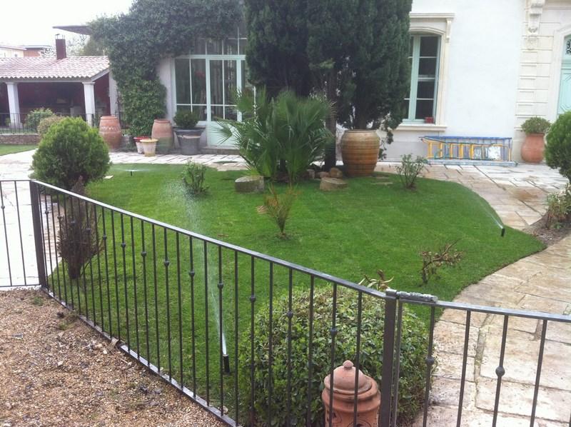 Création d'une pelouse avec arrosage automatique à Baillargues