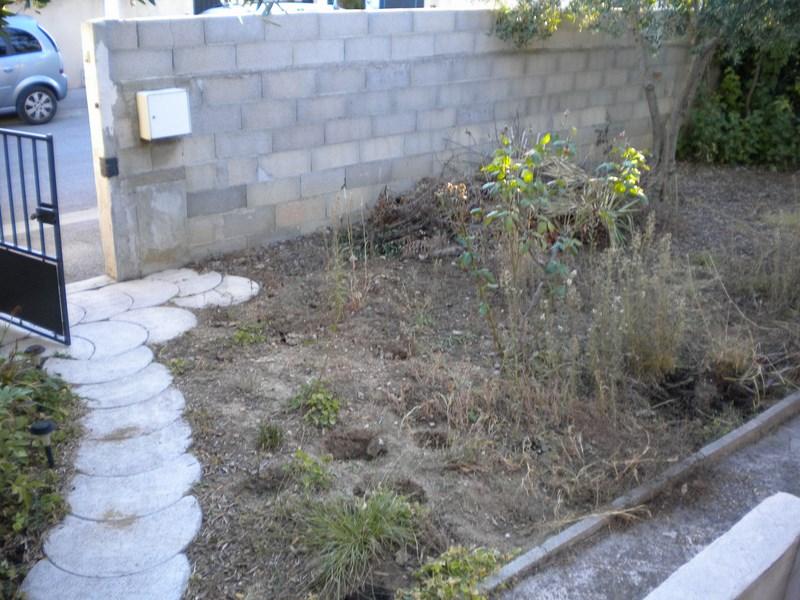 Création d'un jardin complet à Baillargues (avant)
