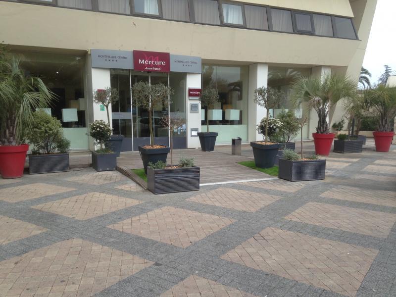 aménagement de jardinières à Montpellier